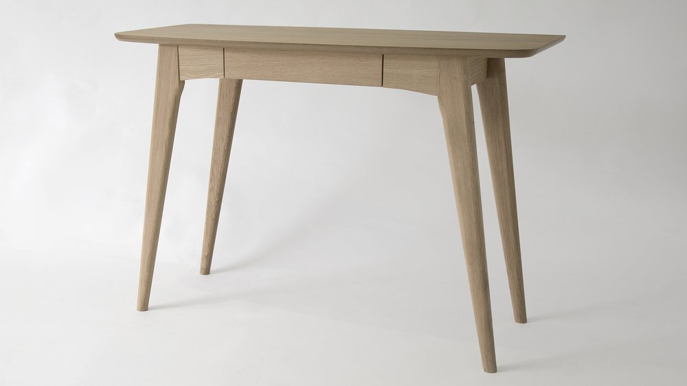 Contemporary Desk in a Wood Finish