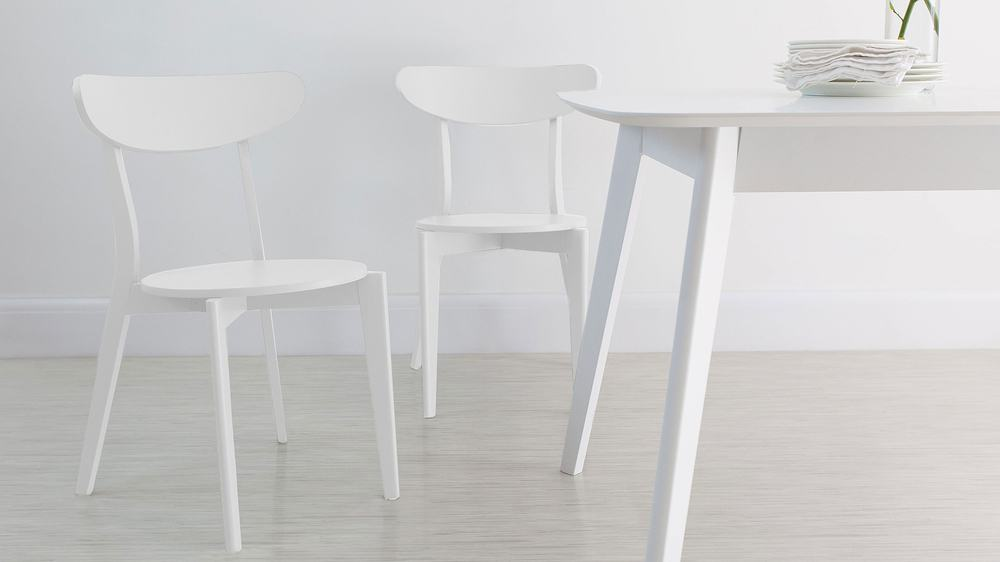 white kitchen chairs uk