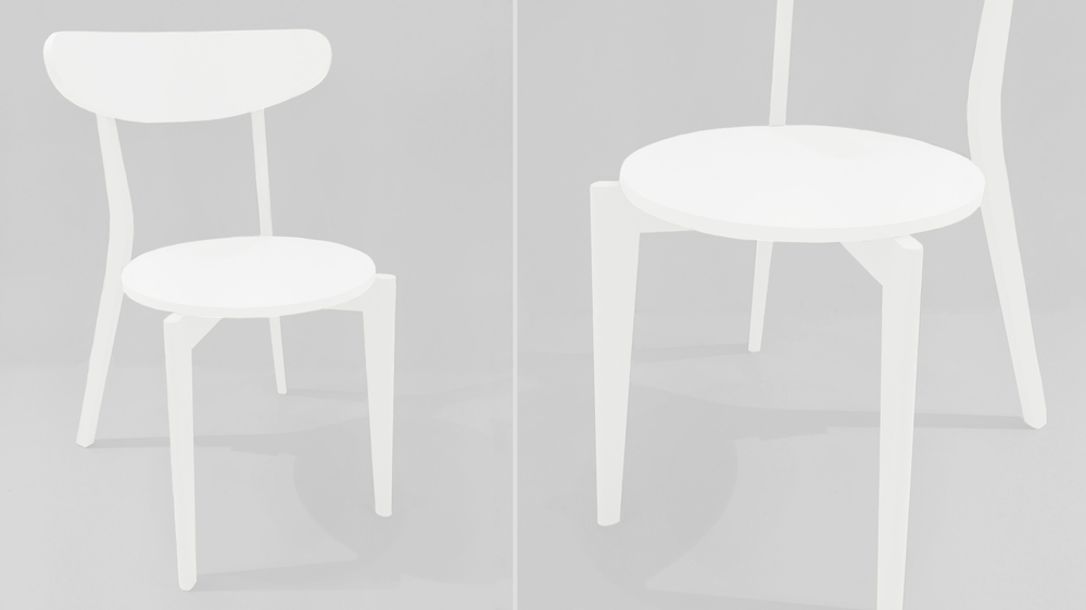 Stylish White Wooden Dining Chairs