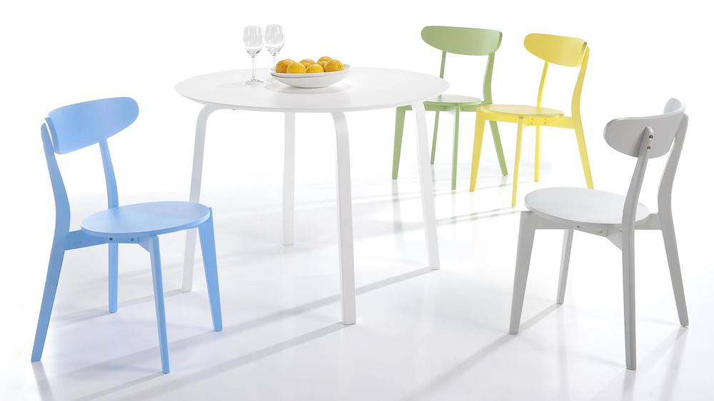 Colourful Kitchen Chairs Bright Painted Wood Only Uk