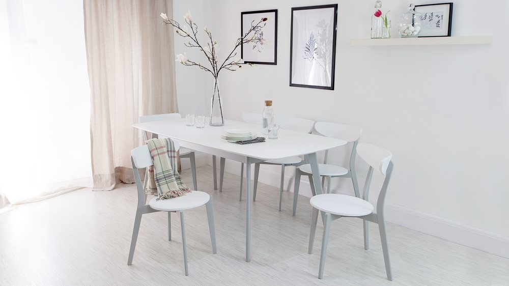 White and Grey Dining Set