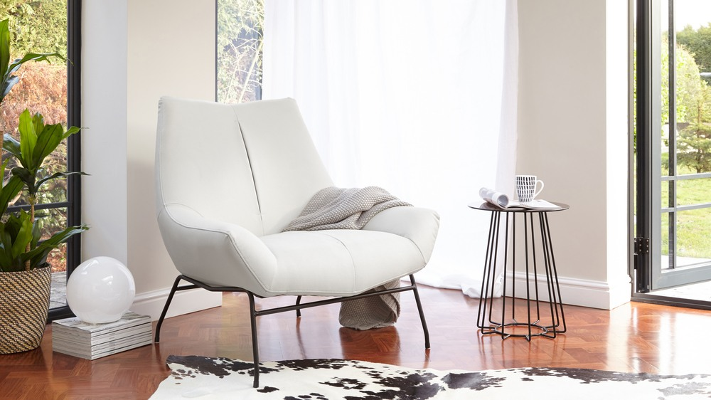 Large comfortable leather armchair