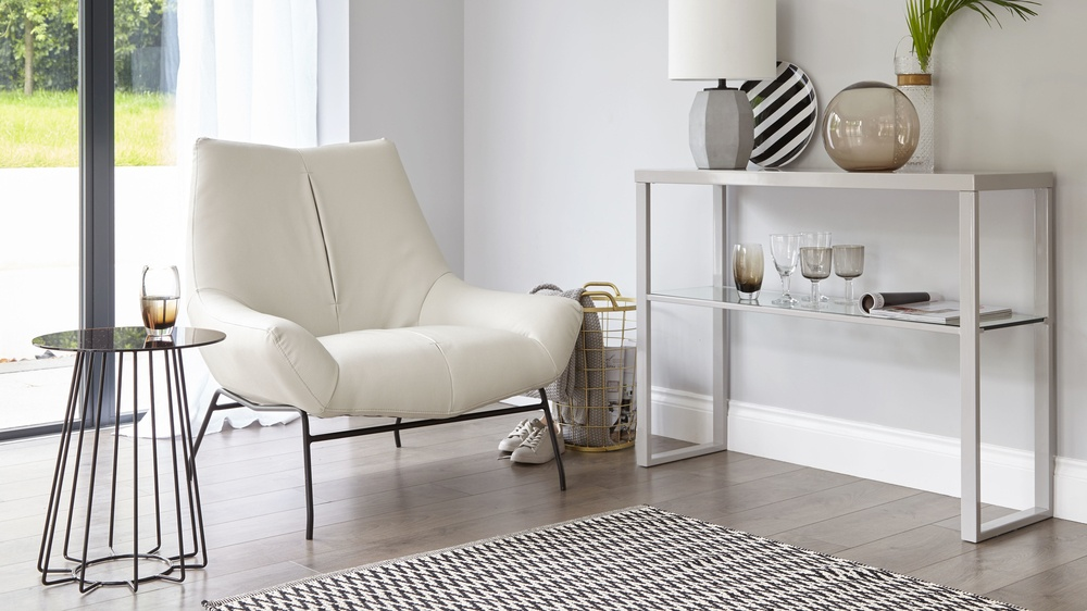 white modern tub chair
