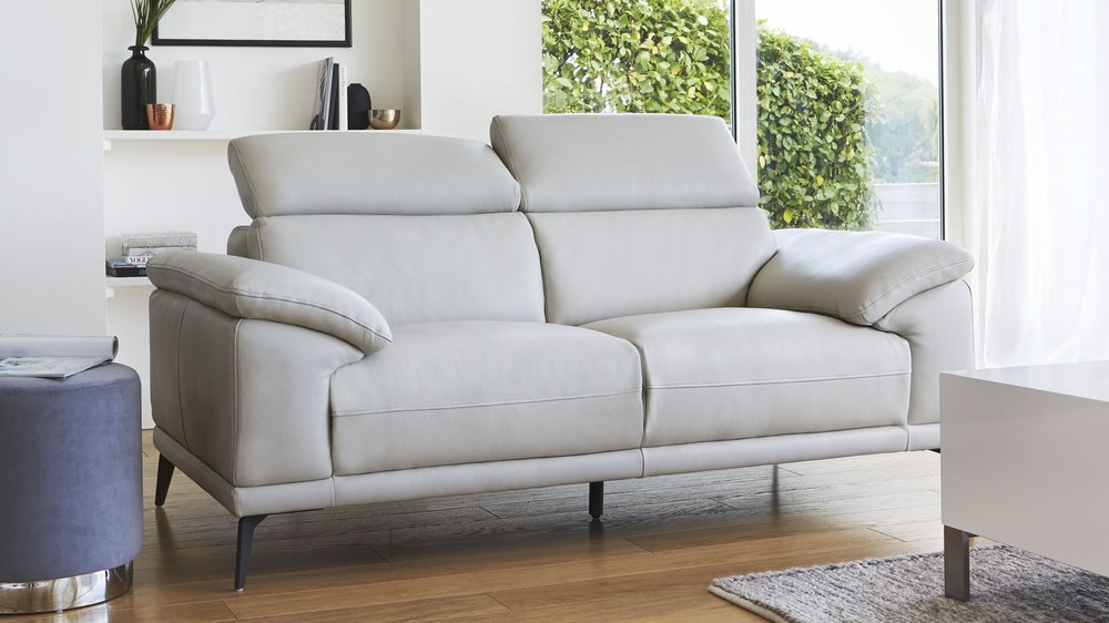 Modern 2 seater real leather sofa living room uk for 7 seater living room