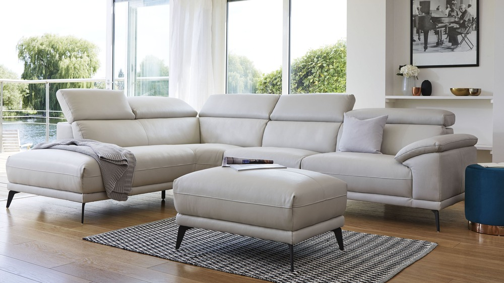 Groovy Siena Left Hand Modern Leather Corner Sofa Complete Home Design Collection Barbaintelli Responsecom