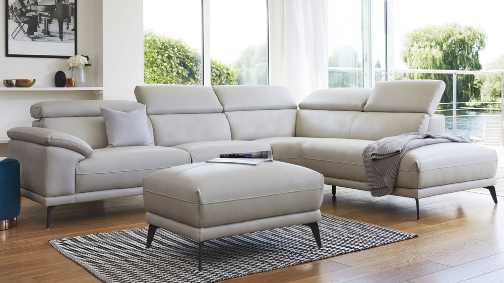 Right hand leather sofa