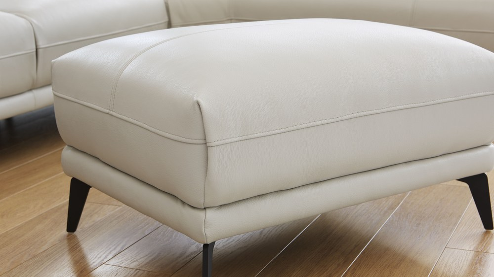 Comfy leather footstool