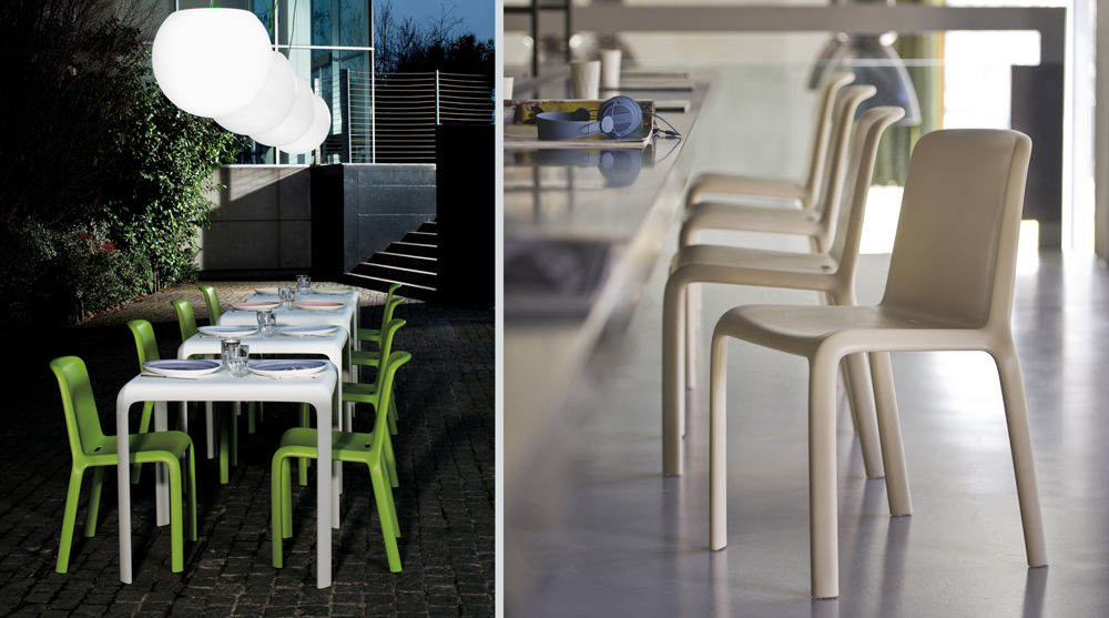 Contemporary Coloured Plastic Dining Chairs