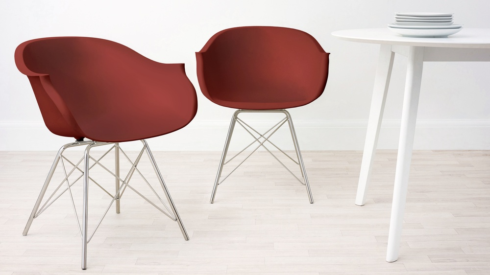 Red Stylish Dining Armchair