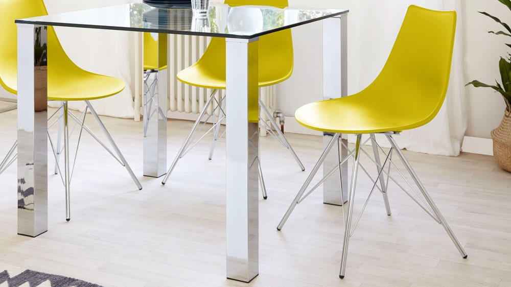 modern moulded seat plastic dining chair