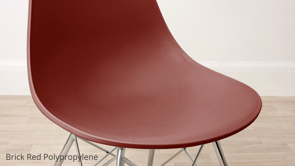 Brick red dining chairs