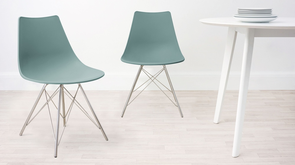 Aqua and Wired Dining Chair