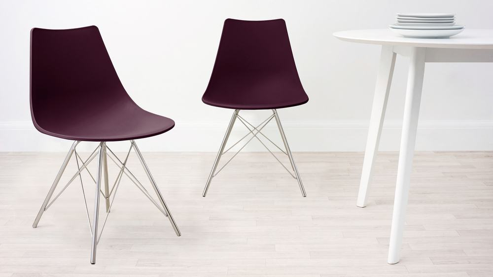 Mulberry Purple and Wired Dining Chair