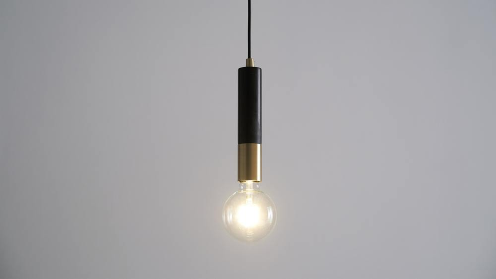 Teo Black Marble And Br Pendant Lamp