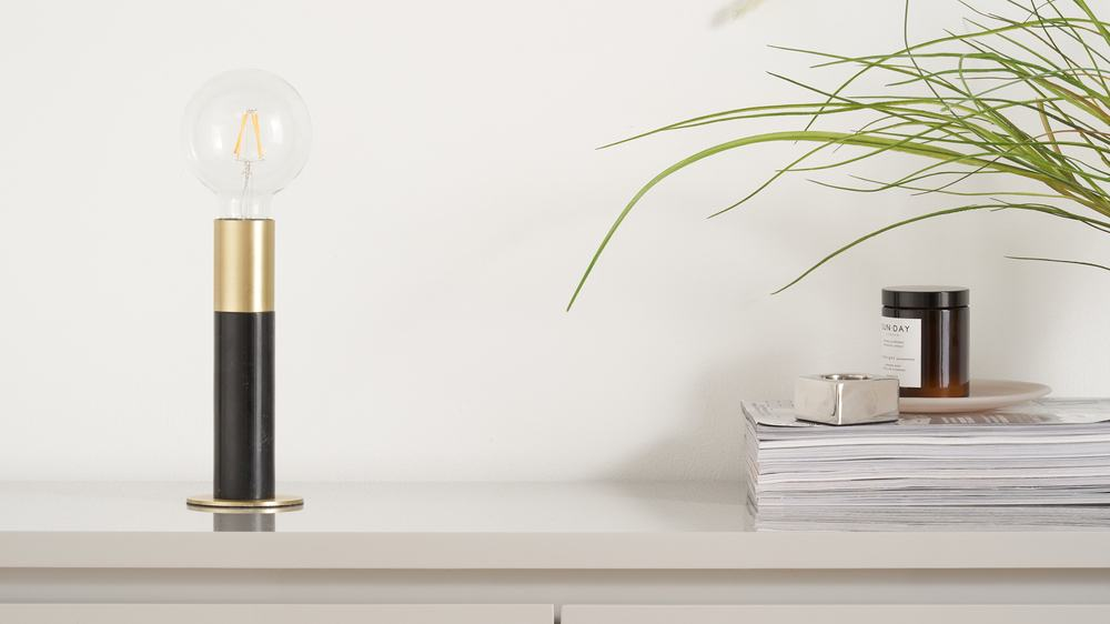 Buy small brass and marble table lamps