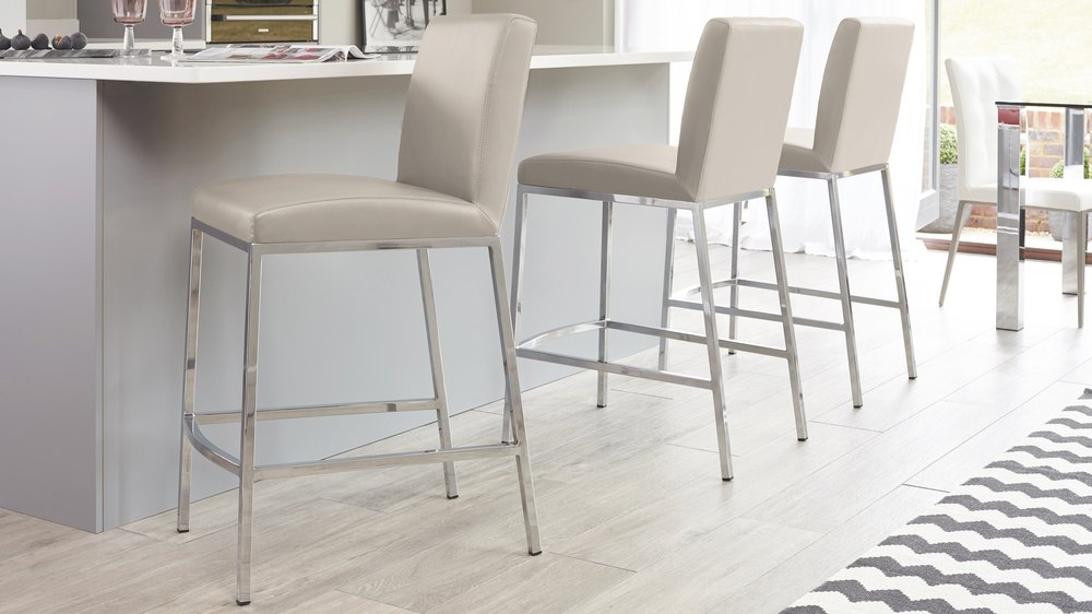 Modern Grey Bar Stool