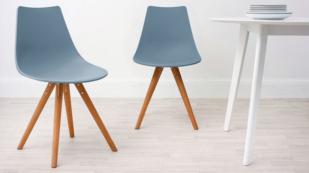 Sky blue modern dining chair