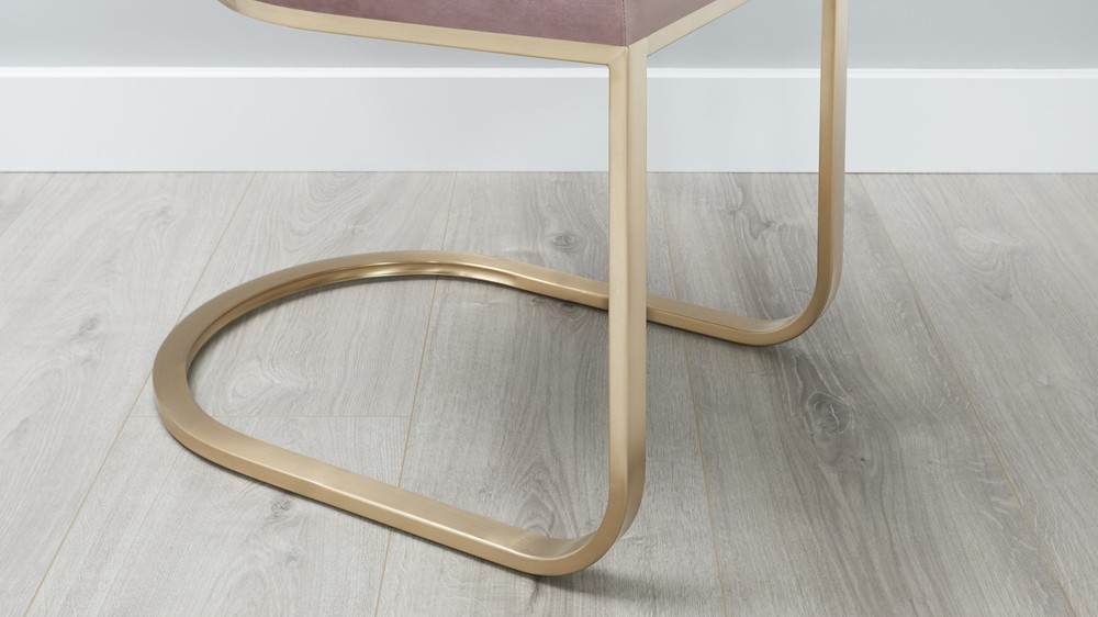 brass leg dining chair