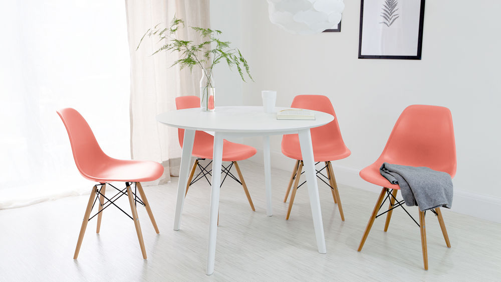 Pink Eames Dining Set