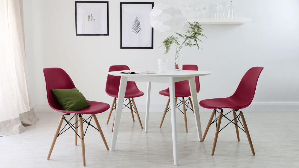 Red And White Dining Set
