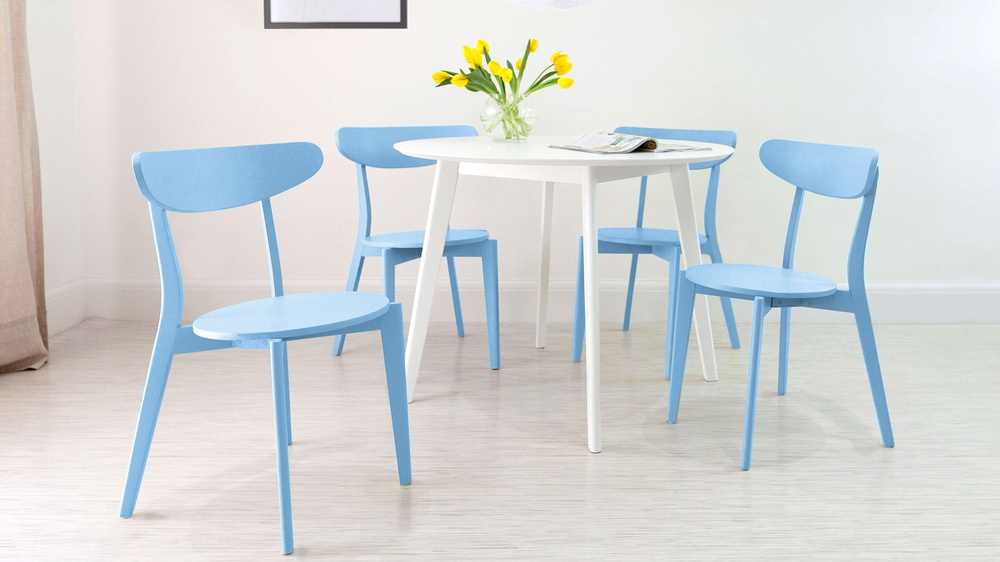 Modern Coloured 4 Seater Dining Set