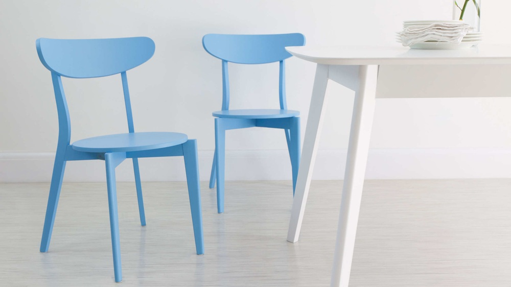 Blue Colourful Kitchen Dining Chair