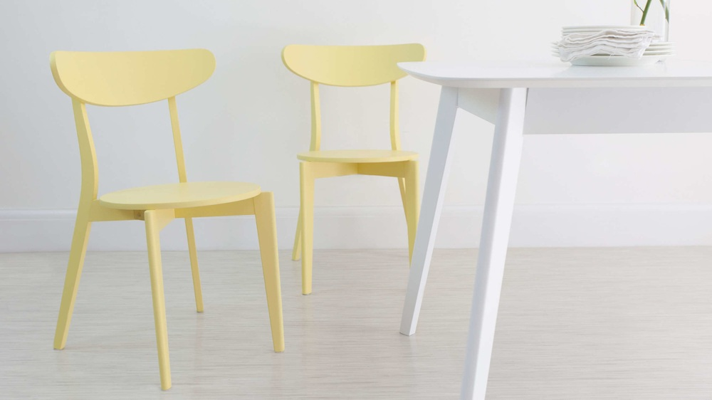 Yellow Colourful Kitchen Dining Chair