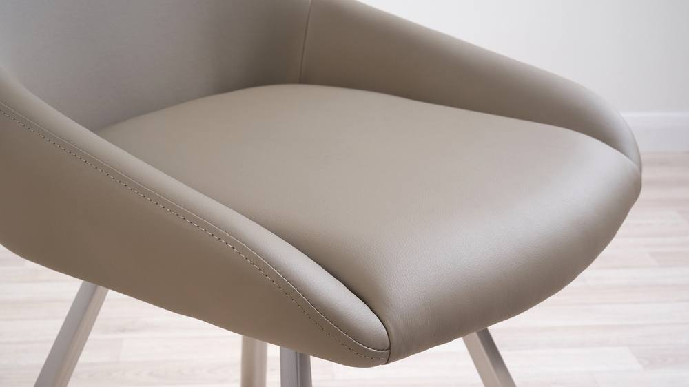 Padded faux leather dining chairs