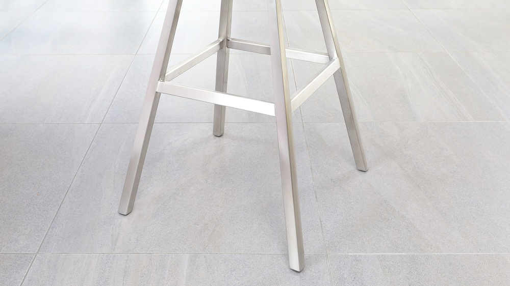 Modern stainless steel bar stools