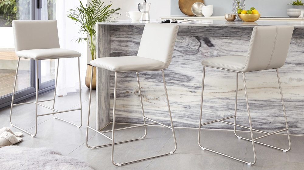 Tia leather bar stool