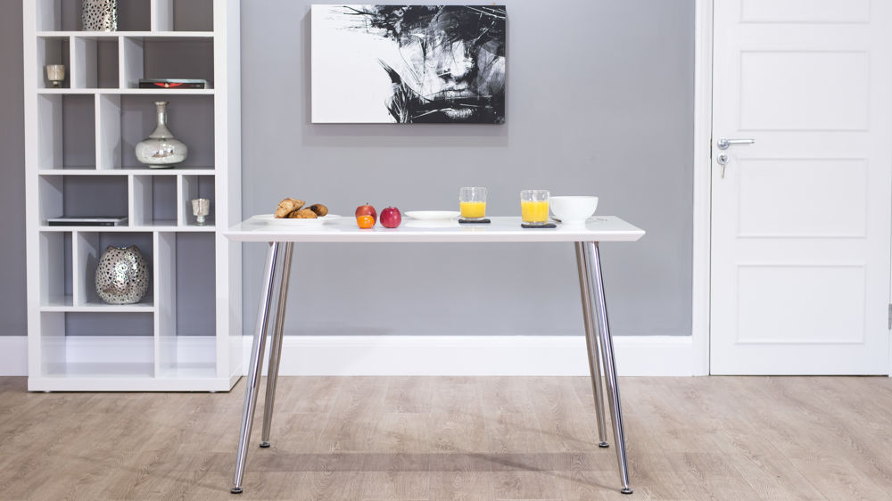 modern small white gloss dining table - White Gloss Kitchen Table