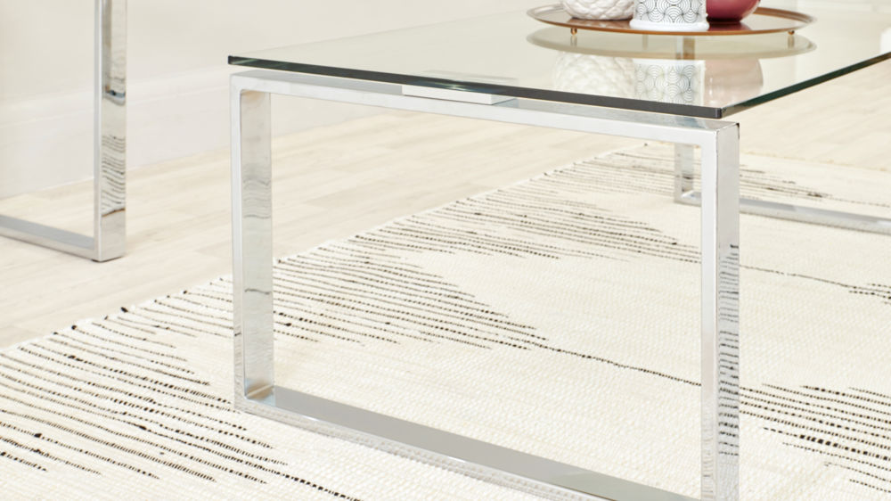contemporary glass coffee table set