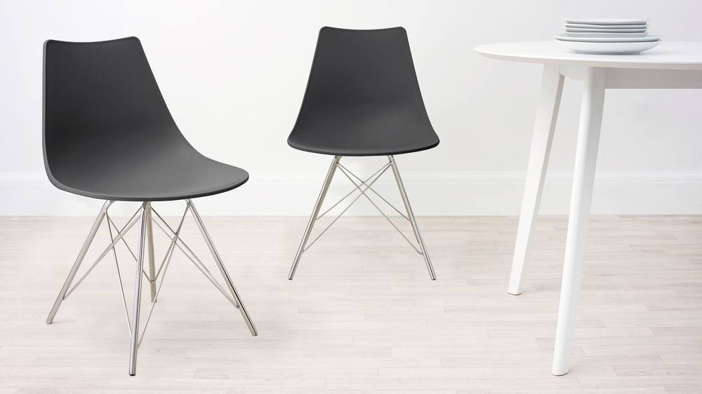 Slate Grey Wipeable Dining Chair