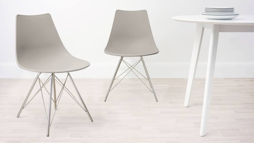 Taupe Grey Wipeable Dining Chair
