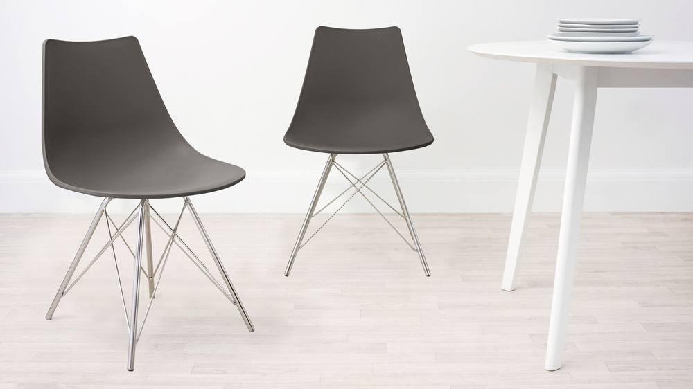 Taupe Wipeable Dining Chair
