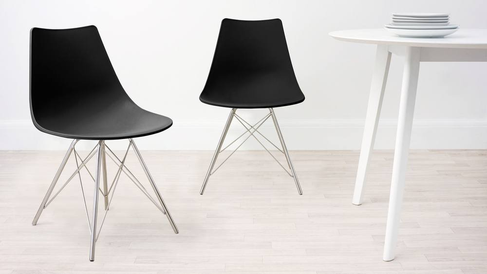 Black Wipeable Dining Chair