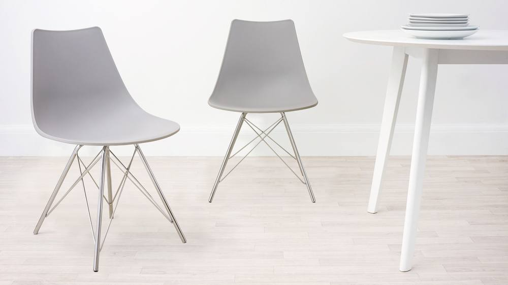 Cool Grey Wipeable Dining Chair