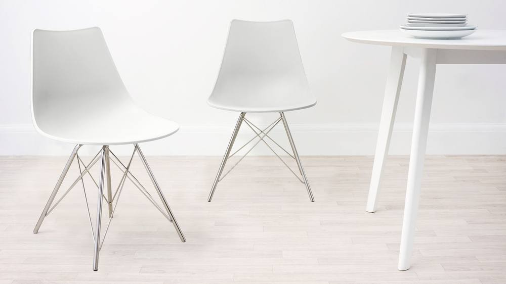 White Colourful Dining Chair