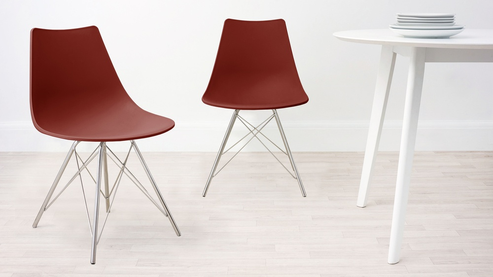 Brick Red Modern Kitchen Chair