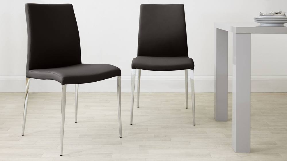 brown dining chairs. Dark Brown Leather Dining Chairs T