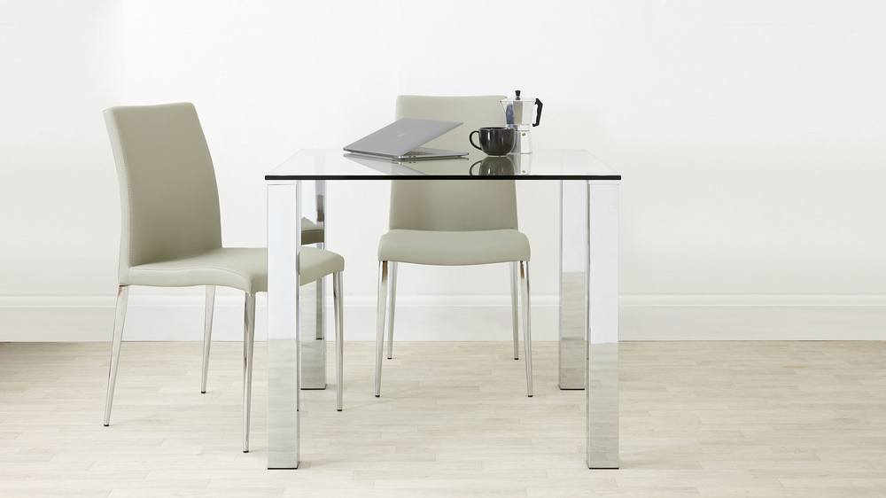 Glass 4 Seater Dining Table