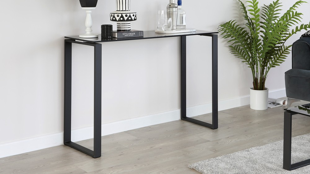 Tiva Smoked Glass Console Table