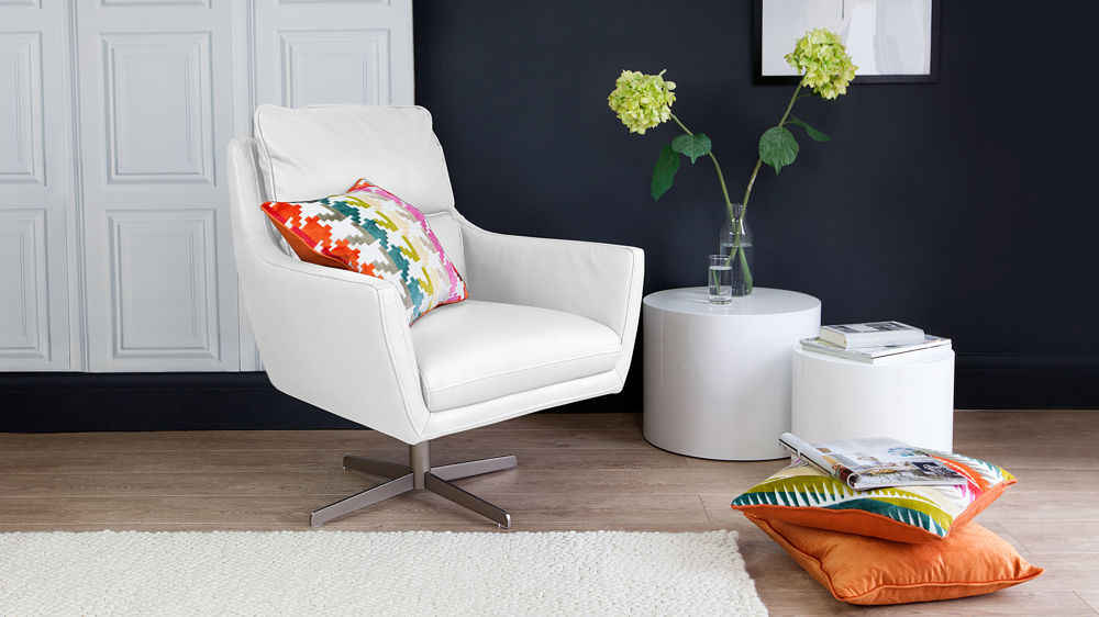 White Lounge Chair Uk Modern Occasional