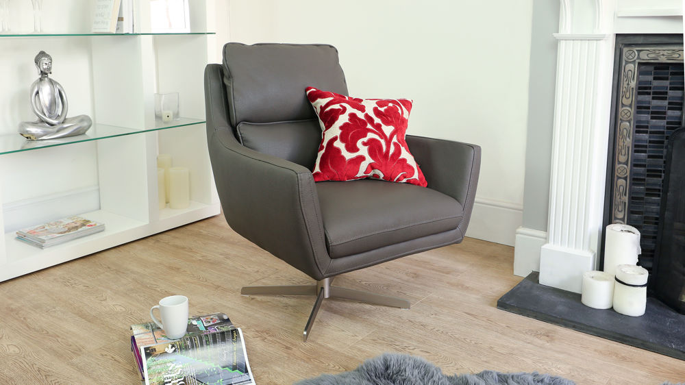 Contemporary Leather Or Faux Leather Occasional Armchair Uk