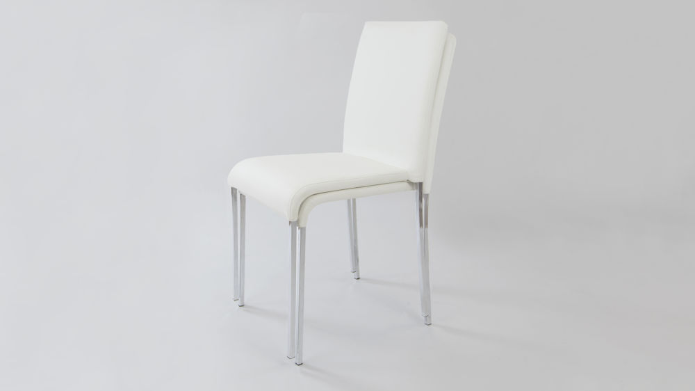 White Stackable Dining Chairs