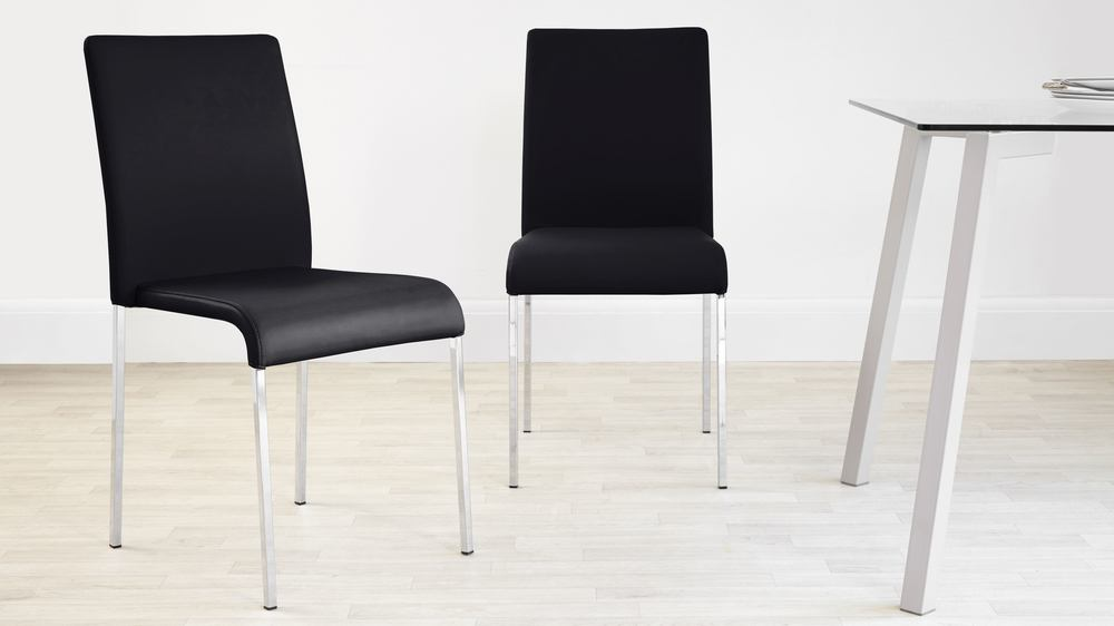 Modern Black Stackable Dining Chairs