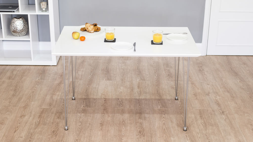 Stylish Rectangular White Gloss Dining Table