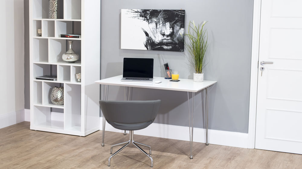 Small White Gloss Desk