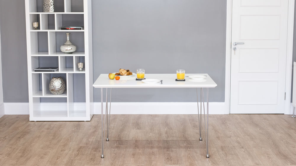 4 Seater White Dining Table