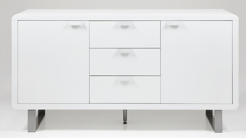 Umbria Sideboard in Ultra Modern High White Gloss Contemporary Legs